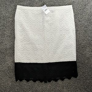 J.Crew Factory Pencil Skirt in colorblock lace